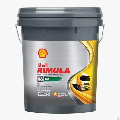 Моторное синт. масло SHELL RIMULA R6 LM 10W-40 (E7, 228.51)