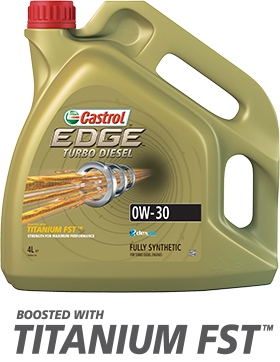 Моторное синтетическое масло CASTROL EDGE TURBO DIESEL 0W-30