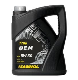 Синтетическое моторное масло MANNOL 7706 O.E.M. 5W-30