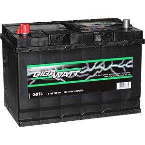 Аккумулятор GIGAWATT 591 401 074 G91L