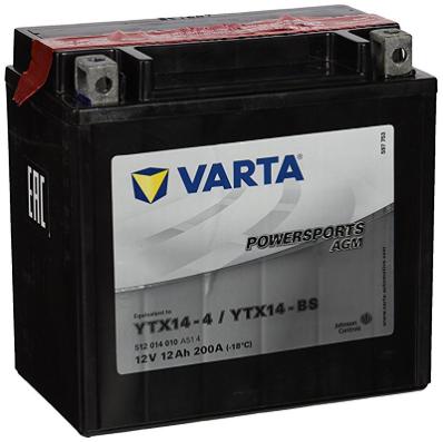 Аккумулятор VARTA POWER SPORTS AGM  512 014 010 A514
