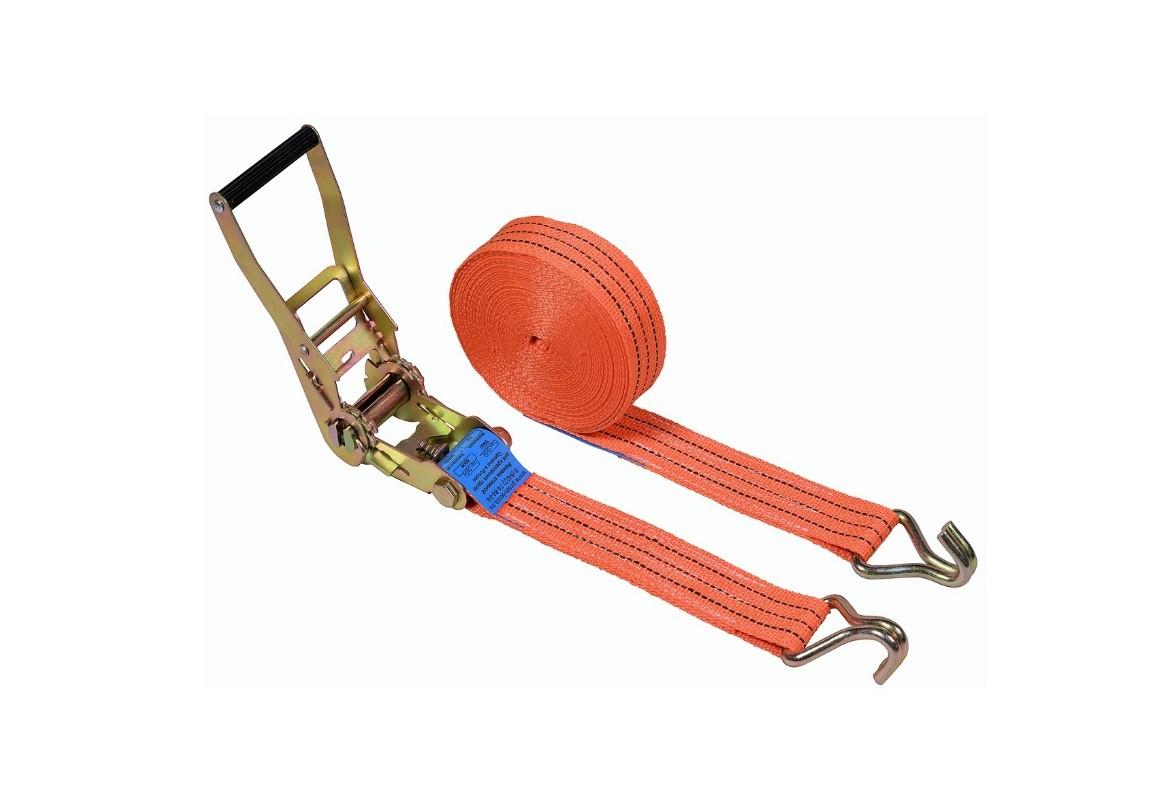 Ремень стяжной с крюками, 2.5/5.0 тонн, 50 мм, полипропилен