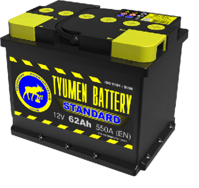 Аккумулятор Тюмень 62 Ah  STANDART (+L)