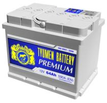 Аккумулятор Тюмень 64 Ah  PREMIUM (+L)