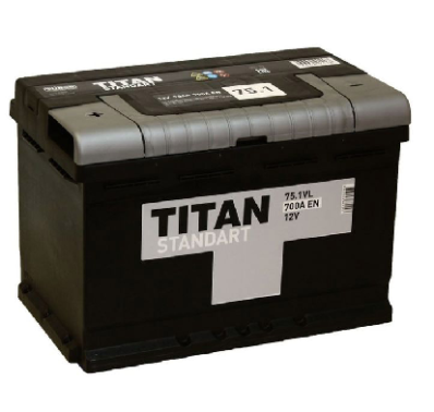 Аккумулятор TITAN STANDART 6CT-75.1 VL