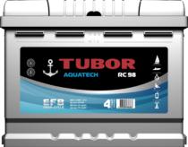 Аккумулятор TUBOR AQUATECH 6СТ-60.0 VL  (конус+барашек)