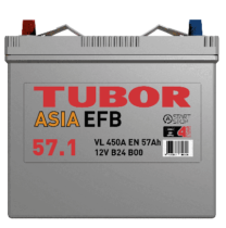 Аккумулятор TUBOR ASIA EFB 6СТ-57.1 VL B00