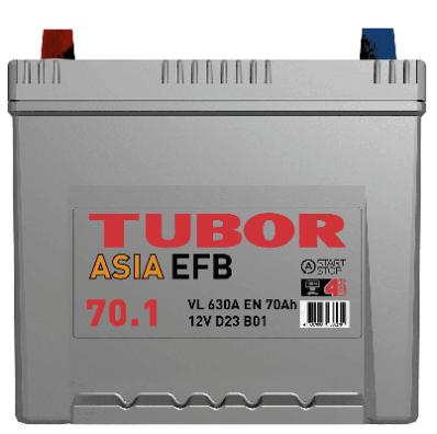 Аккумулятор TUBOR ASIA EFB 6СТ-70.1 VL B01