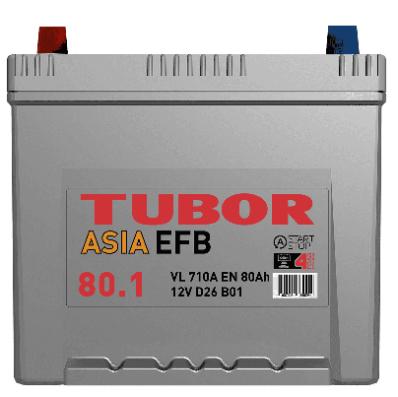 Аккумулятор TUBOR ASIA EFB 6СТ-80.1 VL B01