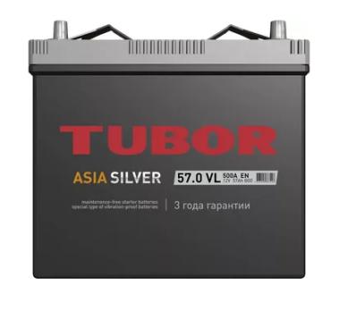 Аккумулятор TUBOR ASIA SILVER 6СТ-57.0 VL B00