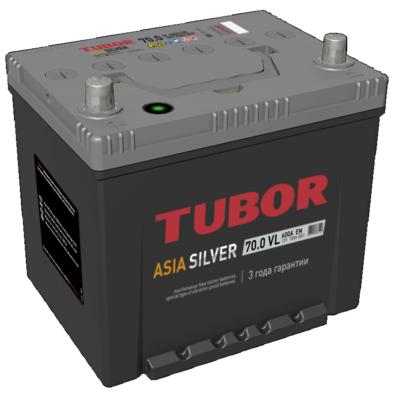 Аккумулятор TUBOR ASIA SILVER 6СТ-70.0 VL B01