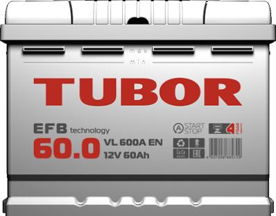 Аккумулятор TUBOR EFB 6СТ-60.0 VL