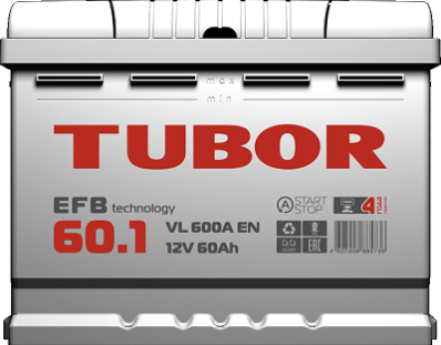 Аккумулятор TUBOR EFB 6СТ-60.1 VL