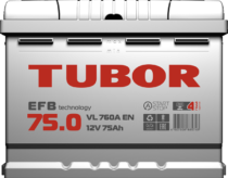 Аккумулятор TUBOR EFB 6СТ-75.0 VL