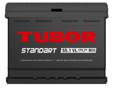 Аккумулятор TUBOR STANDART 6СТ-55.1 VL