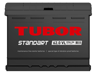 Аккумулятор TUBOR STANDART 6СТ-62.0 VL