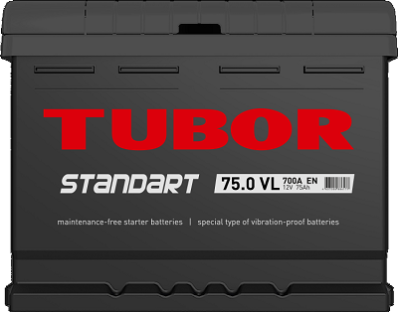Аккумулятор TUBOR STANDART 6СТ-75.0 VL