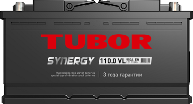 Аккумулятор TUBOR SYNERGY 6СТ-110.0 VL