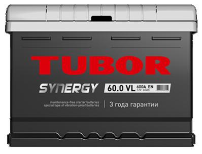 Аккумулятор TUBOR SYNERGY 6СТ-60.0 VL (низкая)