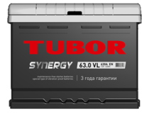 Аккумулятор TUBOR SYNERGY 6СТ-63.0 VL