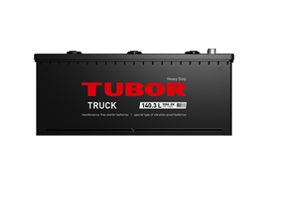 Аккумулятор TUBOR TRUCK 6СТ-140.3 L