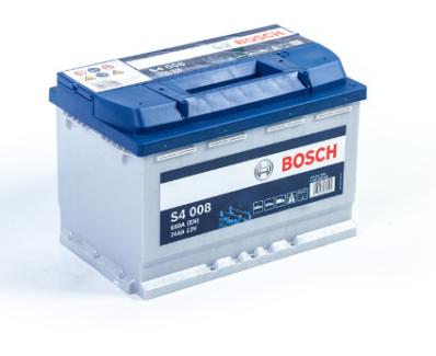 Аккумулятор BOSCH S4 SILVER  574 012 068 S40 080