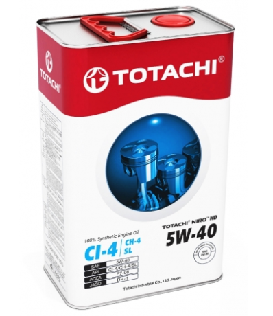Масло моторное синт. TOTACHI NIRO HD SYNTHETIC 5W-40