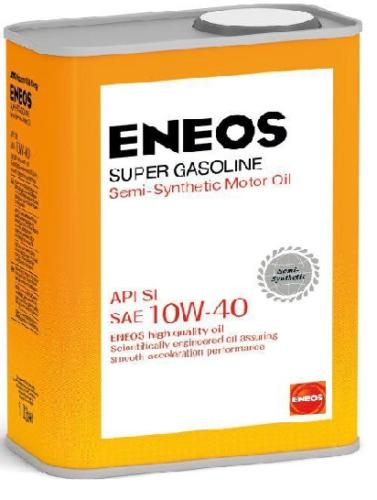 Масло полусинтетическое моторное ENEOS Super Gasoline 10W-40 Semi-synthetic