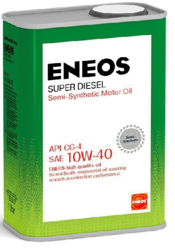 Полусинтетическое моторное масло ENEOS Super Diesel 10W-40 Semi-synthetic