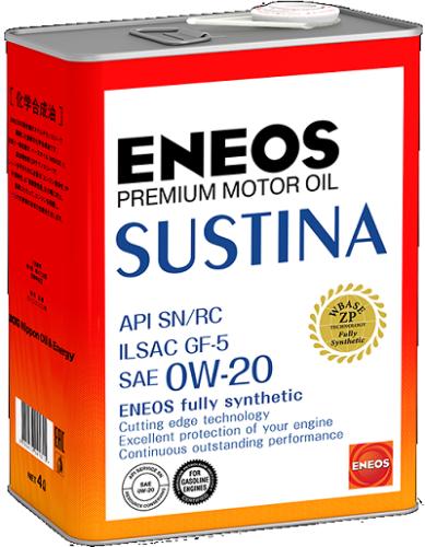 Полностью синтетическое моторное масло ENEOS SUSTINA 0W-20