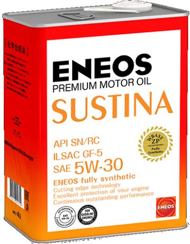 Полностью синтетическое моторное масло ENEOS SUSTINA 5W-30