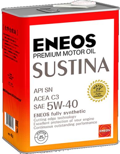 Полностью синтетическое моторное масло ENEOS SUSTINA 5W-40