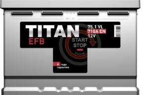 Аккумулятор TITAN EFB 6СТ-75.1 VL