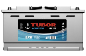 Аккумулятор TUBOR AQUATECH 6СТ-100.0 VL  (конус+барашек)