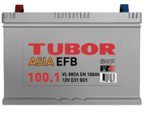 Аккумулятор TUBOR ASIA EFB 6СТ-100.1 VL B01