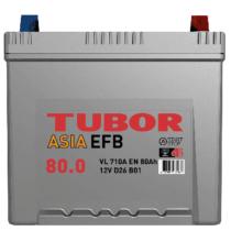 Аккумулятор TUBOR ASIA EFB 6СТ-80.0 VL B01