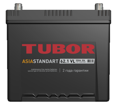 Аккумулятор TUBOR ASIA STANDART 6СТ-62.1 VL B01