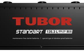Аккумулятор TUBOR STANDART 6СТ-135.3 L