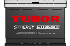 Аккумулятор TUBOR SYNERGY 6СТ-63.1 VL
