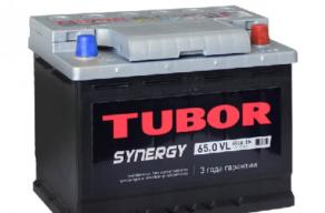 Аккумулятор TUBOR SYNERGY 6СТ-65.0 VL
