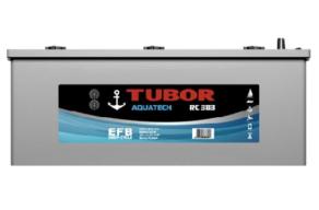 Аккумулятор TUBOR AQUATECH 6СТ-190.3 VL (конус+барашек)