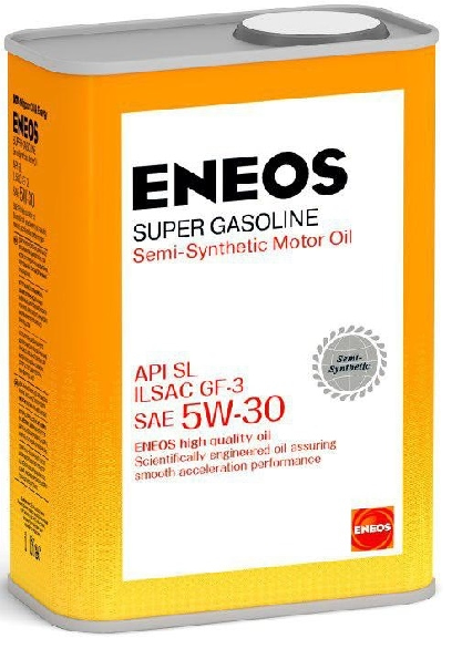 Масло моторное полусинтетическое ENEOS Super Gasoline 5W-30 Semi-synthetic